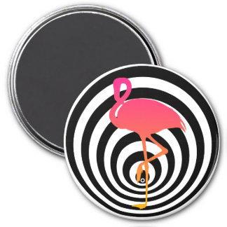Beautiful flamingo in circles magnet