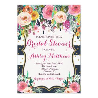 Beautiful Floral Baby Shower Invitation, Baby 13 Cm X 18 Cm Invitation Card