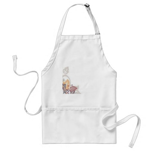 Beautiful floral background design apron