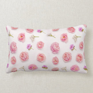 Beautiful floral composition lumbar cushion