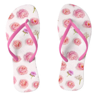 Beautiful floral composition thongs
