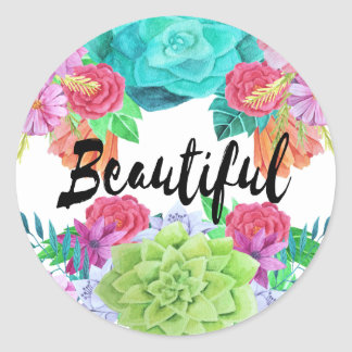 Beautiful floral custom sticker