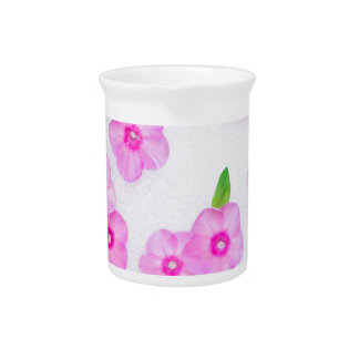 beautiful floral decoration beverage pitchers