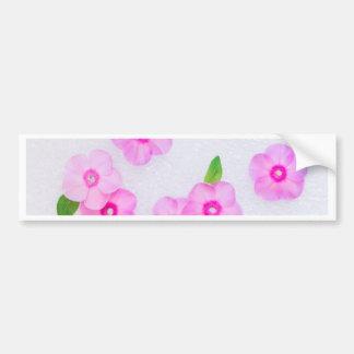 beautiful floral decoration bumper sticker