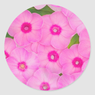 beautiful floral decoration classic round sticker