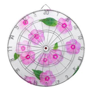 beautiful floral decoration dartboard