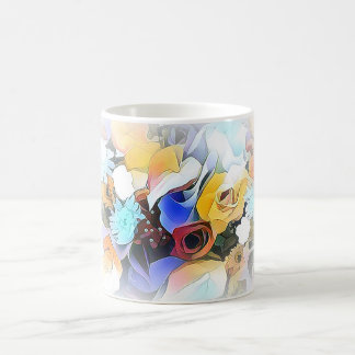 Beautiful Floral Display on White Coffee Mug