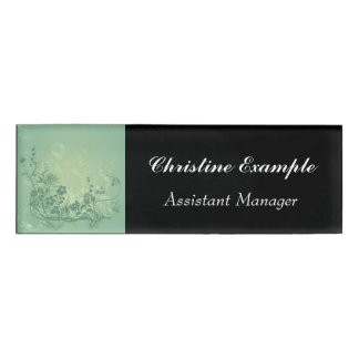 Beautiful floral elements name tag
