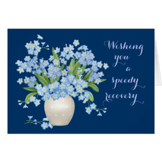 Beautiful Floral Get Well Wishes Greeting Card