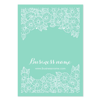 Beautiful Floral Mint Background Earring Cards Pack Of Chubby Business Cards