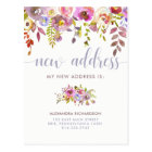 Beautiful Floral | New Address Postcard