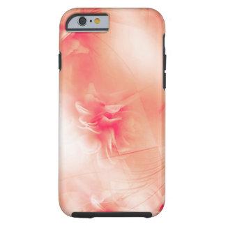 Beautiful floral orange Pattern Tough iPhone 6 Case