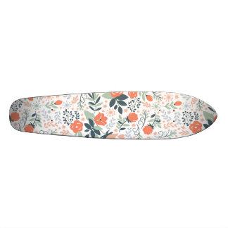 Beautiful Floral Pattern Girly Skate Board