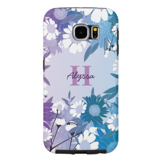 Beautiful Floral Pattern Personalized Samsung Case