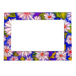 Beautiful Floral Picture Magnetic Picture Frame