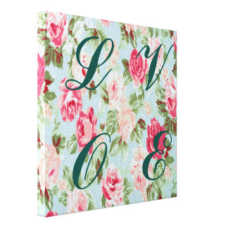 beautiful,floral,pink,vintage,victorian,shabby fun gallery wrap canvas