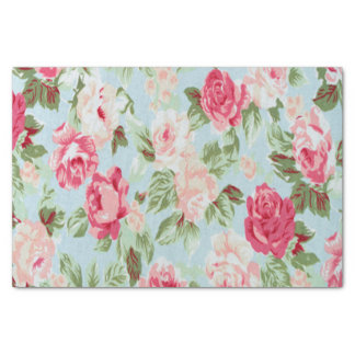 "beautiful,floral,pink,vintage,victorian,shabby fun 10"" x 15"" tissue paper"