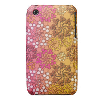 Beautiful Floral Pink White abstract iPhone 3 Cover