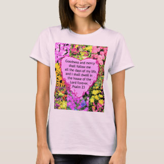 BEAUTIFUL FLORAL PSALM 23 DESIGN T-Shirt