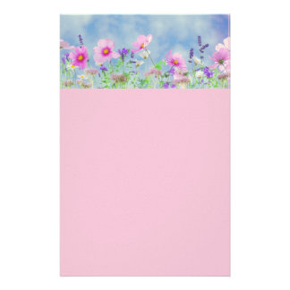 "Beautiful Floral Trimed Stationery 5.5"" x 8.5"""