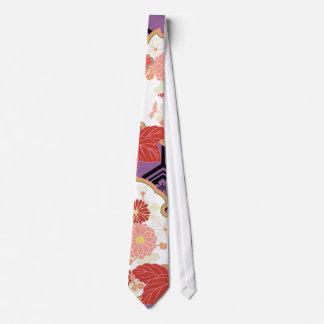 Beautiful Floral Vintage Japanese Pattern Tie