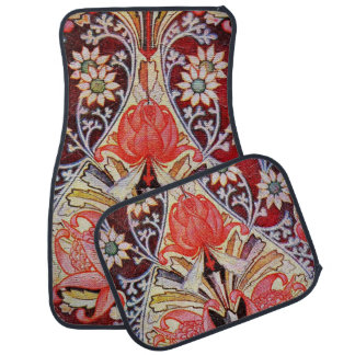 Beautiful Floral Vintage Wallpaper Car Mat