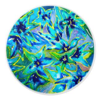 Beautiful Floral Watercolour Ceramic Door Knob