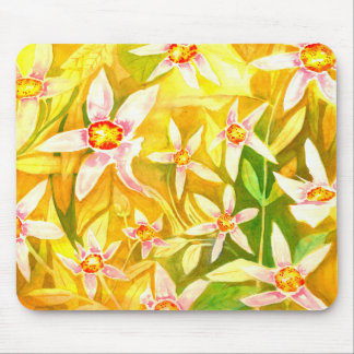 Beautiful Floral Watercolour Mouse Pad