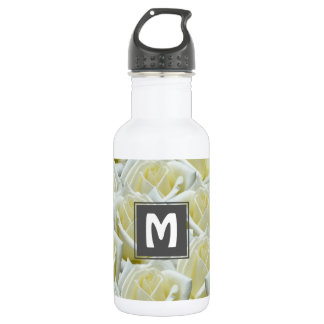beautiful floral white roses photograph design 532 ml water bottle