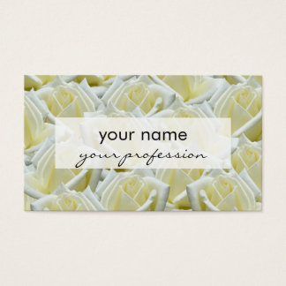 beautiful floral white roses photograph design business card