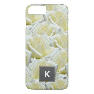 beautiful floral white roses photograph design iPhone 7 plus case