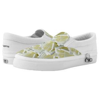 beautiful floral white roses photograph design printed shoes