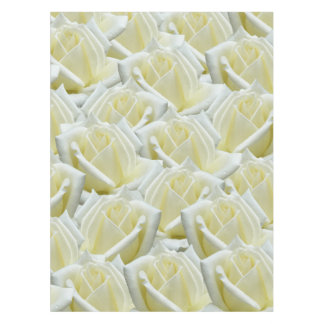 beautiful floral white roses photograph design tablecloth