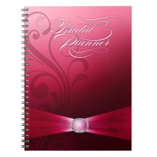 Beautiful Flourish Wedding Planner | hot pink Notebook