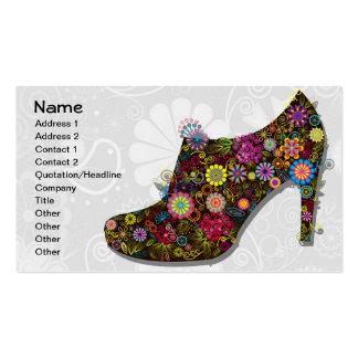 Beautiful Flower & Bird Shoe Retro Pack Of Standard Business Cards