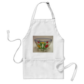 Beautiful Flower Bowl Adult Apron