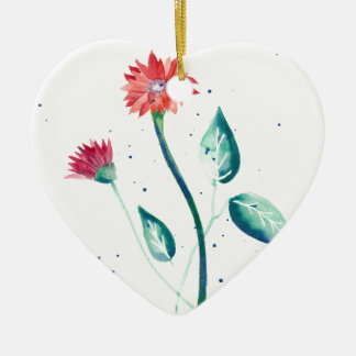 Beautiful Flower Ceramic Ornament