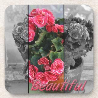 Beautiful flower coaster