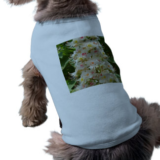 Beautiful Flower Doggie Ribbed Tank Top Sleeveless Dog Shirt