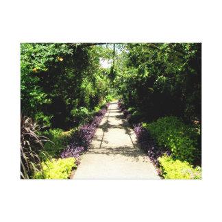 Beautiful Flower Garden Pathway Gallery Wrap Canvas