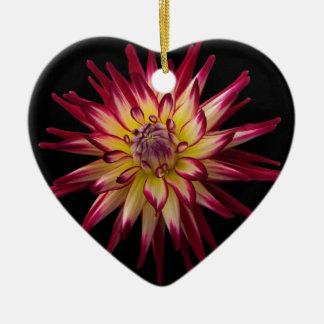 Beautiful Flower Karras Ceramic Heart Decoration