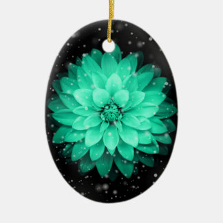 Beautiful Flower Oval Ornament