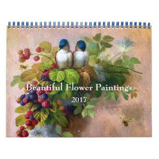 Beautiful Flower Painting Fine Art Wall Calendars