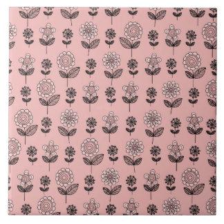 Beautiful Flower Pattern Tile