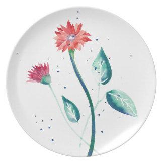 Beautiful Flower Plate