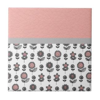 Beautiful Flower Retro Trendy Texture Pattern Ceramic Tile