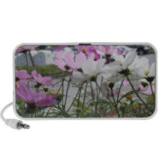 Beautiful flowered background iPhone speaker.
