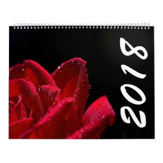 Beautiful Flowers 2018 Calendar