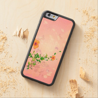 Beautiful flowers carved maple iPhone 6 bumper case