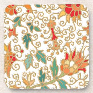Beautiful Flowers Design Beverage Coasters